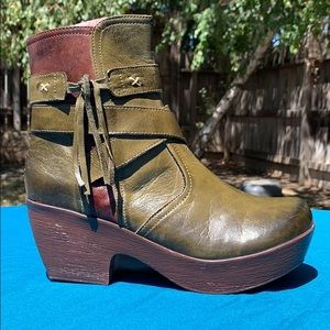 Jafa 610 Boots Olive & Brown Size 37